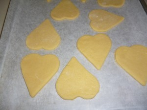 cookie - heart shaped cutouts