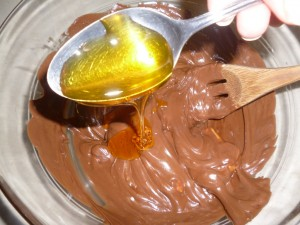 melted chocolate and golden syrup