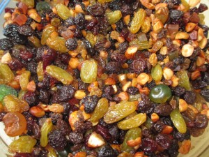 christmas cake - mixed fruit