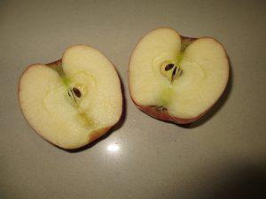 apple rose - half the apple