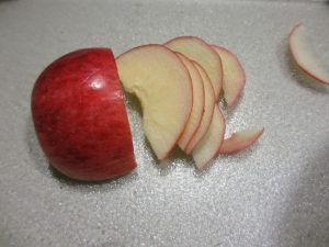 apple rose - thin slices