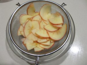 apple rose - cook slices